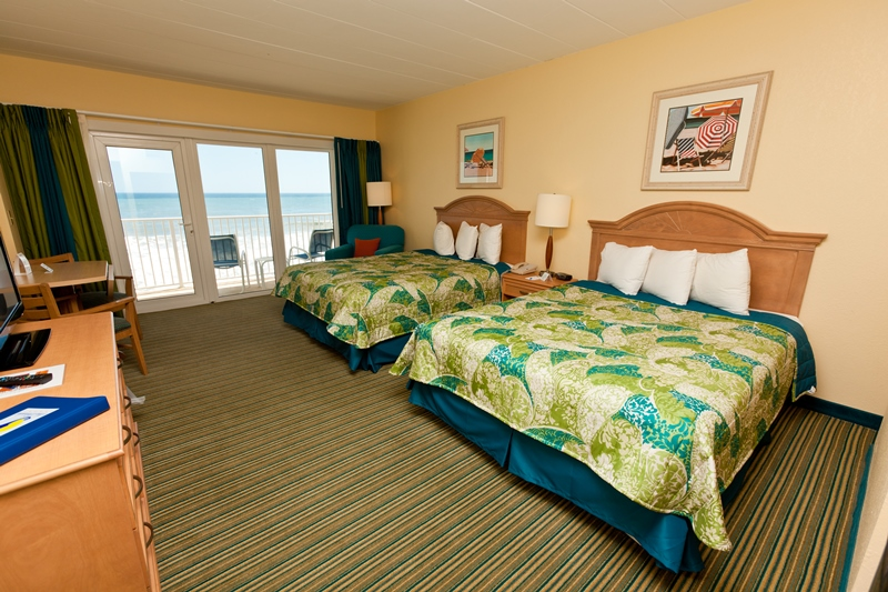 Double beds with oceanview at the sea ranch resort