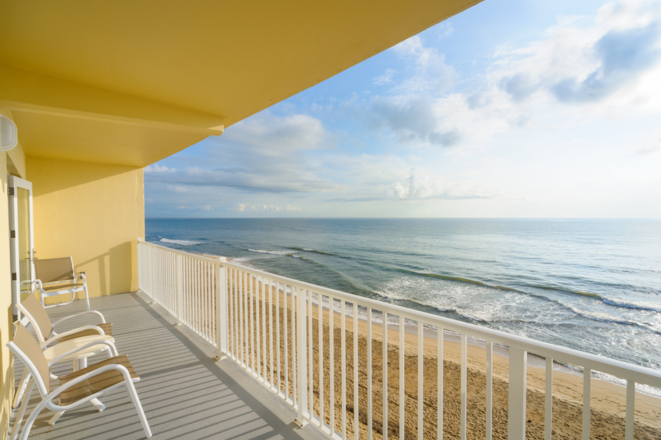 Our beautiful balcony overlooking the Atlantic Ocean in Kill Devil Hills