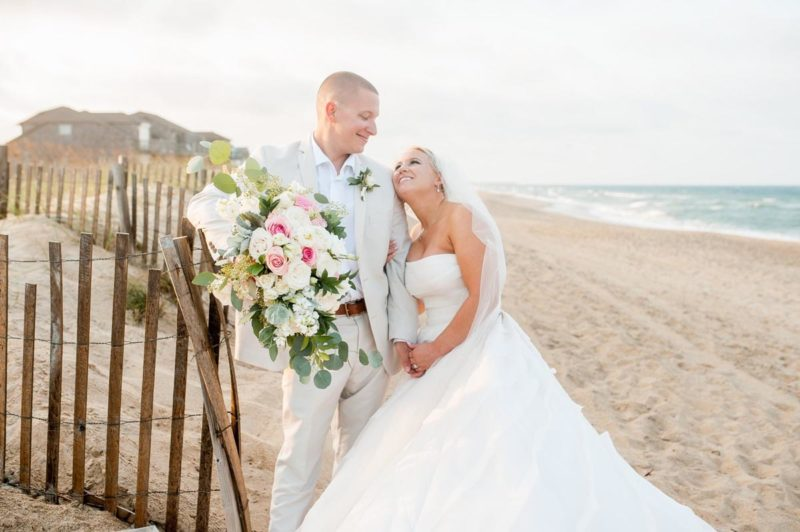 A Happy Couple at the Outer Banks Wedding Weekend at the Sea Ranch Resort