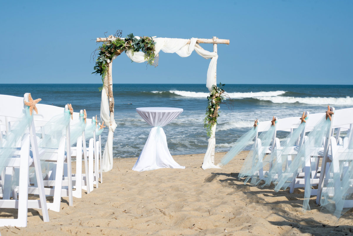 outer banks wedding arch outer banks wedding ceremony