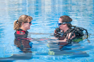 Teacher and student at Outer Banks scuba diving lessons