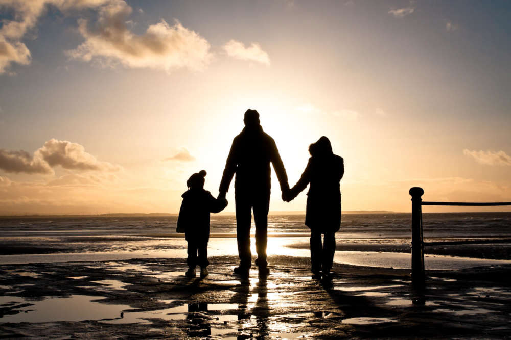 Picture of family enjoying an Outer Banks rental.