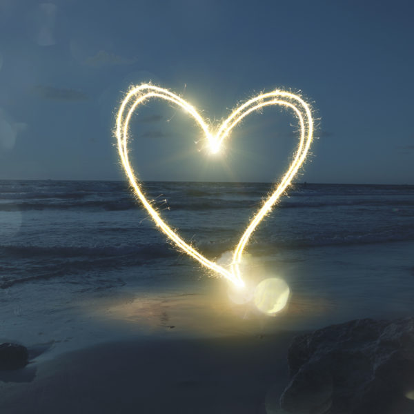 Sparkle Heart on Valentines Day on the Outer Banks