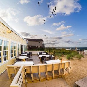 A beachside restaurant in Kill Devil Hills, one of the towns in Outer Banks, NC.