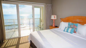 A photo of a resort room to relax in after taking part in Outer Banks fitness events.
