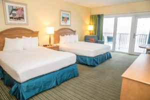 A photo of a hotel room in the Outer Banks to stay at in winter.