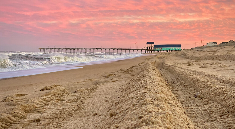 A photo of the Outer Banks in winter.